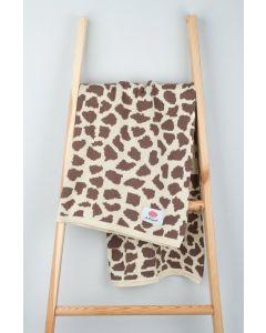 Kocyk bawełniany Safari Żyrafa