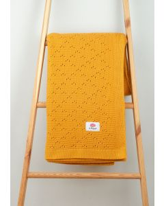 Koc bambus bawełna 170x130 MUSZTARDA