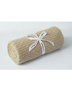 kocyk dziany bambus bawełna mini ciepły piasek