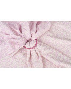 Chusta kółkowa (ring)  żakardowa Floral  Pink